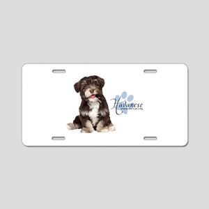 Havanese Puppy Aluminum License Plate